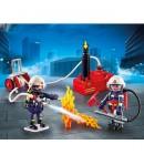 Playmobil squadra dei Vigili del Fuoco con pompa d'acqua 9468