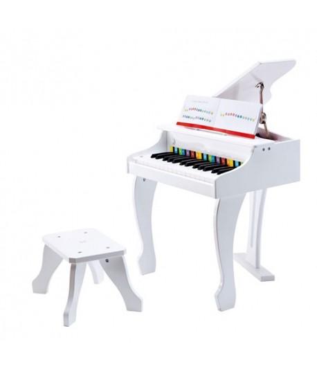 Pianoforte a coda Deluxe elettronico Hape bianco E0338