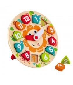 Puzzle dell'orologio Hape con forme E1622