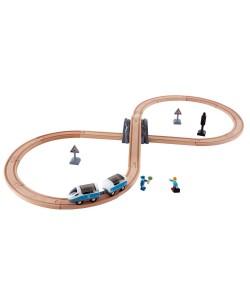 Trenino Hape in legno percorso a 8 E3729