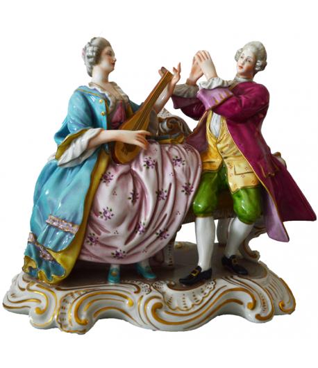 Statuina Lezione di Mandolino Richard Ginori 14-5953