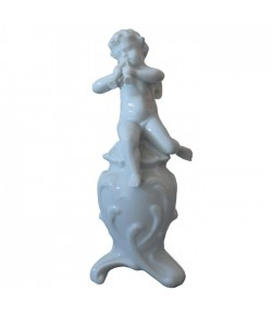Puttino Richard Ginori con cornamusa bianco 14-5798