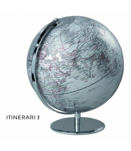 Mappamondo Mascagni argento diametro cm 30 I110