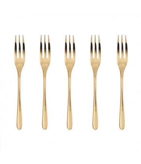 Sambonet Confezione 6 Forchette Dolce Taste PVD Gold 52553GA5