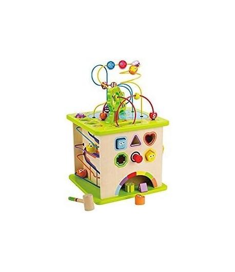 Cubo da gioco con animaletti di campagna Hape E1810