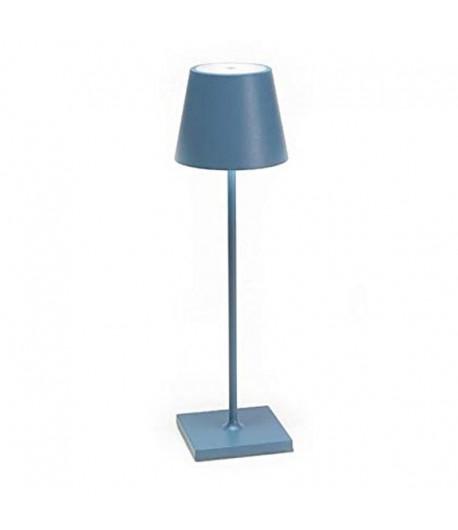 POLDINA Lampada da Tavolo Zafferano Blu  LD0280A3
