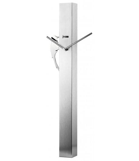 Orologio da parete Lowell con pendolo PICCHIO silver 14541S