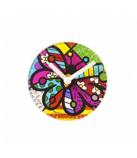Orologio Tavola Romero Britto Rotondo Butterfly  334247
