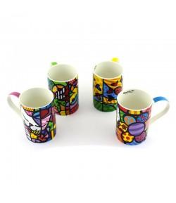 Set 4 Mug Romero Britto in confezione 10,5 cm  334241