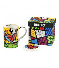 Mug Romero Britto A New Day con coperchio 10,5 cm  334233