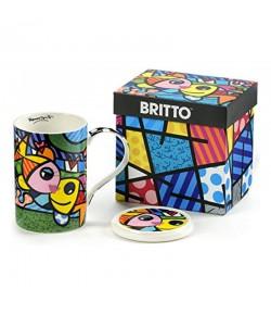 Mug Romero Britto Deeply In Love con coperchio 10,5 cm  334235