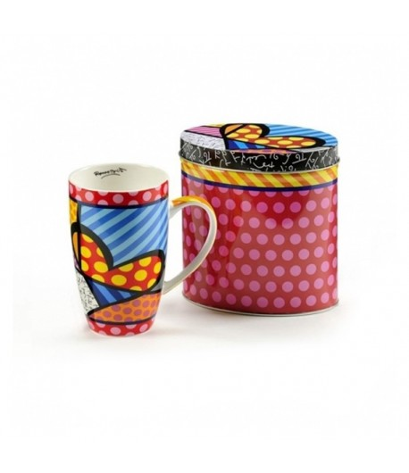 Mug Romero Britto Heart con scatola in latta 12,5 cm  334239