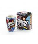 Mug Romero Britto Cat con scatola in latta 12,5 cm  334240