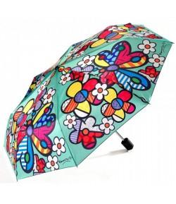 Ombrello Romero Britto Pieghevole Butterflies & Flowers  334145