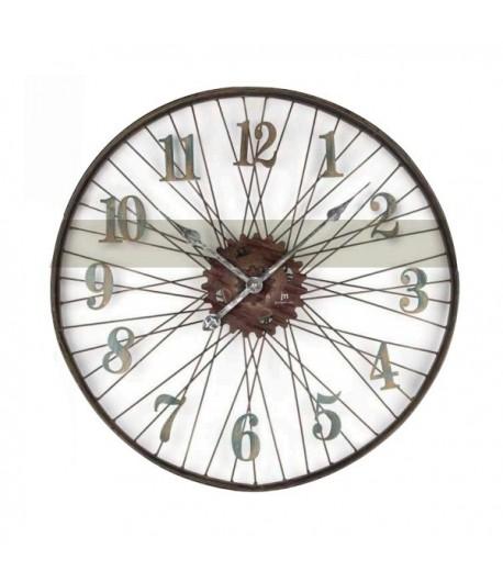 Orologio da parete Lowell RUOTA in metallo 63 cm  21457