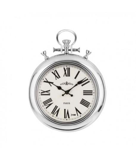 Orologio da paete Lowell TASCA in Metallo Cromato 32 cm  21460C
