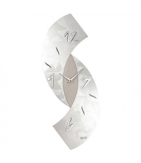 Orologio da  parete Lowell ESSE cm 30x80 Grigio Argento  11476