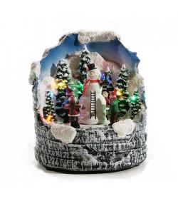 Carillon Natalizio General Trade Pupazzo di neve luci movimento musica  432312
