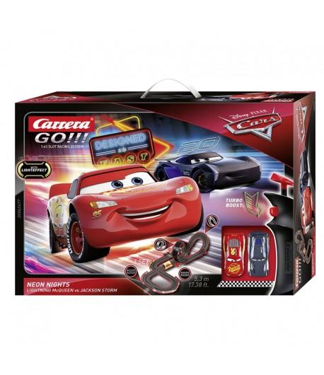 Pista Slot Carrera Go! Cars Neon Nights 5,3 m di sviluppo 62477