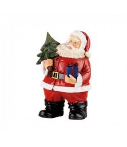 Babbo Natale L'Oca Nera con albero cm 9x10x15h  1XM527.12
