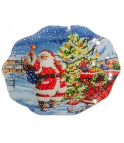 Piattino vetro Natale Lamart 20 cm 20234