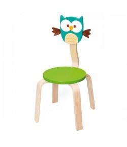 Sedia in legno gufo Lou blu DAM 6182324