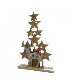 Albero Natale General Trade con Renna che guarda dietro e led  408221 A