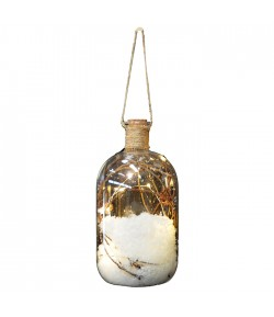 Bottiglia Natale Giocoplast con led h 19 cm  480-18052