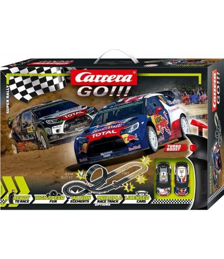 Pista Slot Carrera Go! Super Rally 4,9 m di sviluppo 62495