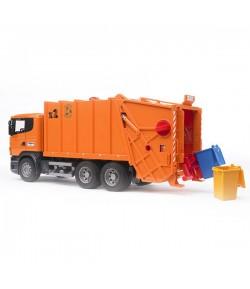 Bruder Scania R trasporto rifiuti arancio 3560
