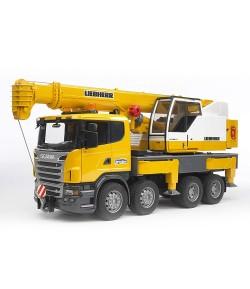 Bruder Scania R con gru Liebherr luci e suoni 3570