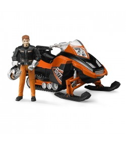 Bruder Bworld motoslitta con pilota 63101