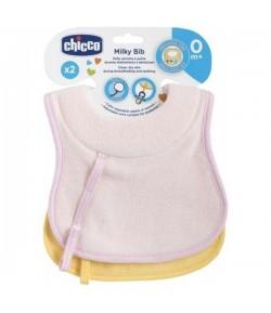 Bavaglini allattamento Chicco da 0 mesi rosa 2 pezzi 16300.10