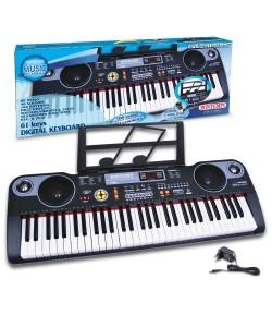 Bontempi tastiera digitale 61 tasti con USB 16 6118 passo professionale