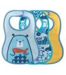 Bavaglini pappa Chicco da 6 mesi azzurro 3 pezzi 16301.20