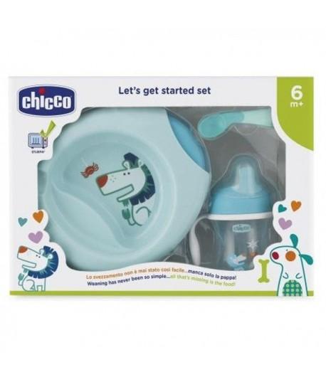 Set Pappacalda Chicco dai 6 mesi doppio fondo per acqua calda azzurro 16200.20
