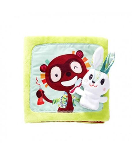 Libro in stoffa coniglietto dentista Lilliputiens 86831