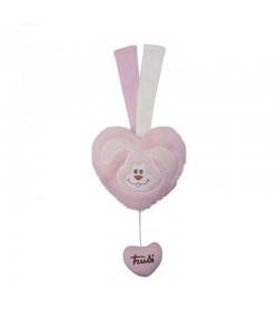 Trudi Baby Carillon cuore rosa XS 18139