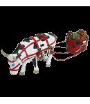 Cow Parade X-MAS JINGLE COWJ.Media in resina 47753