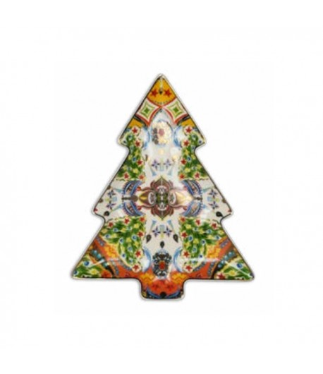 Piatto a servire Albero Natale Baci Milano Cosy Xmas oro  PIAT6.XMA01