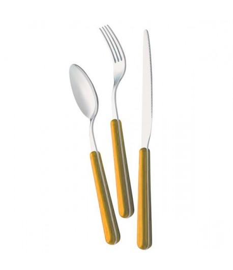 Posate Zero Domus & Design 24 pezzi colore giallo 56 B24ZE/GO