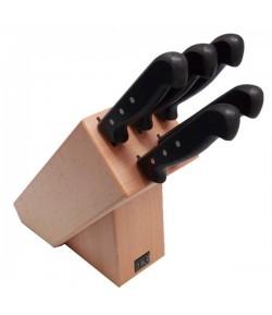 Ceppo coltelli Domus & Design 5 pezzi naturale C5N/PO