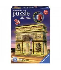 Puzzle 3D Arco di Trionfo Ravensburger Night Edition 12522 con luce